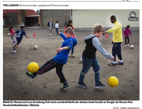 Sambafotbollsskola i Trelleborg på Östra Skolan.