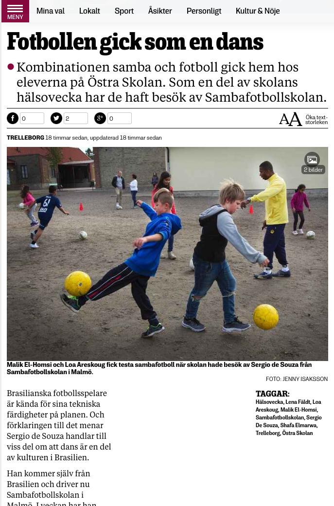 Samba på Östra Skolan